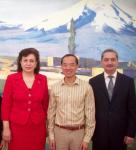 RA Minister of Diaspora Hranoush Hakobyan, Singapore Foreign Minister George Yeo, RA Ambassador Armen Sargsyan - March 2011